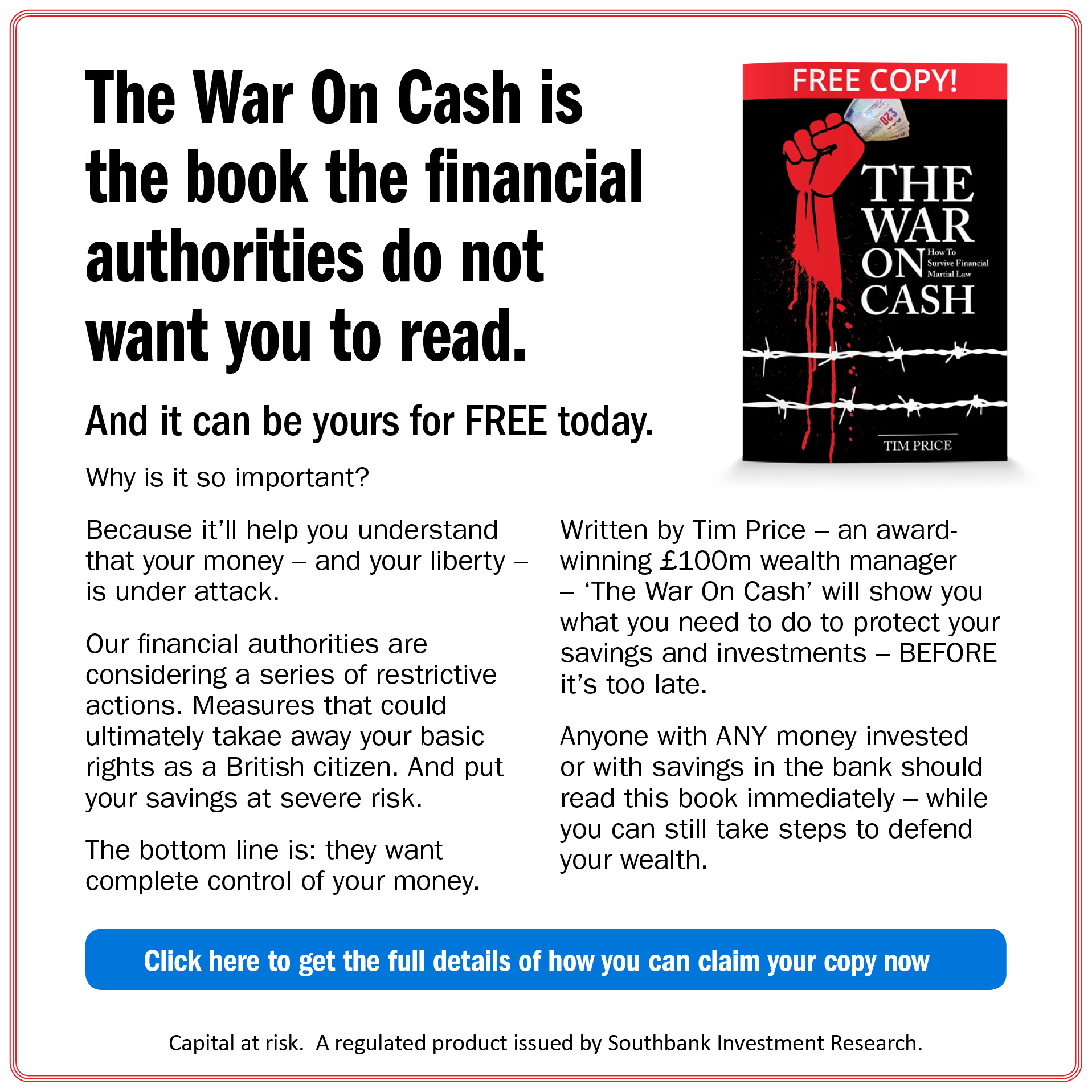 The War on Cash is the book the financial authprities do not want you to read