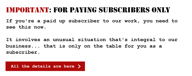 Important: for paying subscribers only